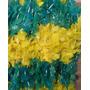 Colar Havaiano Verde E Amarelo Torcida Brasil Frete Grátis