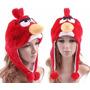 Touca Gorro Angry Birds Pelúcia - Pronta Entrega