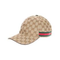 Gucci Boné Bege Monogramado Frete Gratis