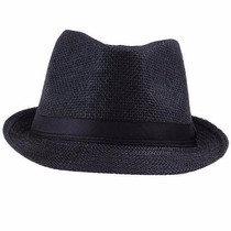Chapéu Estilo Panamá Modelo Social Clássico Preto ( Unisex )