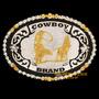 Fivela Laço Em Dupla C/ Banho Dourado E Prata - Cowboy Brand