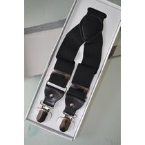 Suspensórios Preto Black Tie Moda Casual Elegante A-047