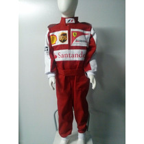 Macacão Infantil Ferrari/ Fantasia F-1 C/ Nome Personalizado