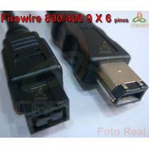 Cabo Firewire 800/400 De 9 X 6 Pinos Ieee1394b 1,8 Metros