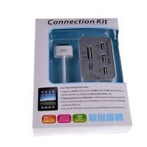 Multi - Funcional Usb Hub + Card Reader Connection Kit Para