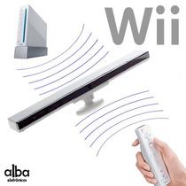 Barra Sensor Bar Sem Fio Com Base Nintendo Wii +infravemelho