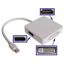 Cabo Mini Display Thunderbolt 3 Em 1 P/ Hdmi Dvi Displayport