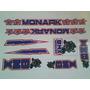 Adesivo Bmx Pantera Monark Azul,vermelho E Preto.