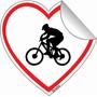 Adesivo Bici Bike Carro Coração Homem Mulher Casal 5 X 5 Cm
