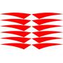 12 Adesivos Refletivos Triangular Aros Bikes Motos Carros