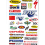 Cartelas Adesivo Bike Sram - Fox - Rock Shox - Dt Kit Com 02