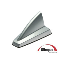 Antena Olimpus New Shark Tubarão, Prata - Amplificada