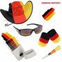 Kit Torcedor Da Alemanha Futebol ¿ Óculos Chapéu Tinta Apito