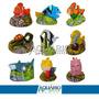 Enfeite Para Aquário - Personagens Do Nemo - Kit C/ 9 Peças