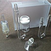 Kit Difusor De Co2 Em Vidro Para Aquário