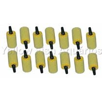 Kit 100 Pedras Porosas Cilíndricas Para Aquários Compressor