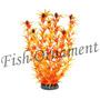 Enfeite Soma Planta Limnophila Laranja 30cm Fish Ornament