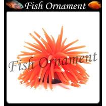 Enfeite Silicone Soma Anemona M Laranja Fish Ornament