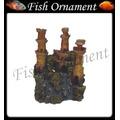 Enfeite Aquario Resina Castelo Amarelo Lester Fish Ornament