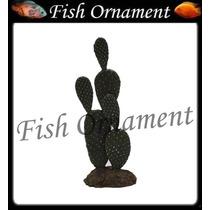 Soma 076510 Enfeite Resina Planta Cactus 102 Fish Ornament