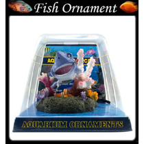 Enfeite De Resina Soma Tubarão Com Bolhas Fish Ornament