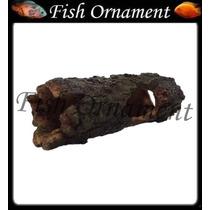 Enfeite Resina Soma Tronco Tunel 03 Fish Ornament