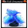 Enfeite Aquário Silicone Soma Coral Mushroom Spotted Azul