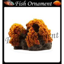 Enfeite Resina Soma Coral Sun Flower Gd Fish Ornament