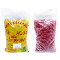 Cascalho Colorido P/ Aquarios Vermelho Rubi 1kg
