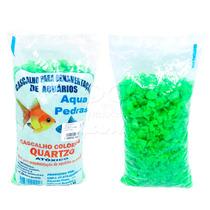 Cascalho Colorido P/ Aquarios Verde Claro 1kg
