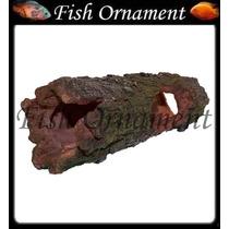 Enfeite De Resina Soma Tronco Tunel 02 Fish Ornament