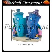 Enfeite Penn Plax Predios Bob Esponja Fish Ornament