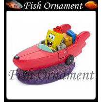 Enfeite Penn Plax Bob Esponja No Barco Sbr55 Fish Ornament