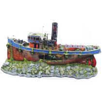Enfeite Para Aquário -barco Cargueiro Gigante - Frete Gratís