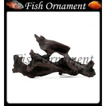 Enfeite De Resina Soma Tronco Duo 123 Fish Ornament
