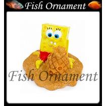 Enfeite Penn Plax Bob Esponja Praia Fish Ornament