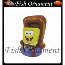 Enfeite Penn Plax Bob Esponja No Sofa Fish Ornament