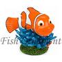 Enfeite Penn Plax Nemo Coral Azul Mini Fish Ornament