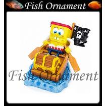 Enfeite Penn Plax Bob Esponja Pirata Fish Ornament