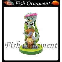 Enfeite Penn Plax Lula Molusco Mini Bob Esponj Fish Ornament