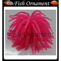 Enfeite Soma Silicone Anêmona Rosa Grande Fish Ornament