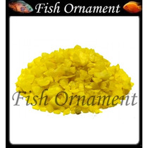 5 Kg De Cascalho Colorido Amarelo Escuro Fish Ornament