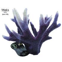 Enfeite De Silicone Soma Coral Acropora Stag Horn Roxa 70013