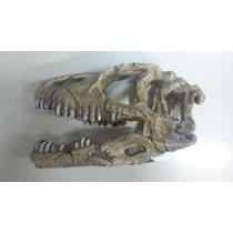 Enfeite Resina Cabeça De Dinossauro P/ Aquários E Terrários