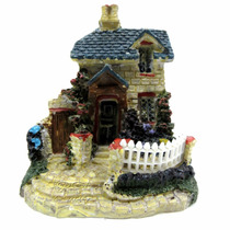 Enfeite De Resina Para Aquário Mini Casa Amarela Ch-1546