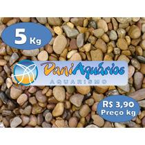 Cascalho De Rio 5kg Para Aquário, Jardins, Decoração, Peixes