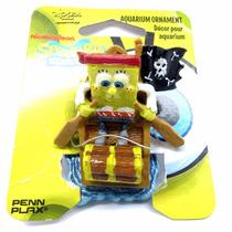 Enfeite De Resina Para Aquário Mini Bob Esponja Pirata Sbr50