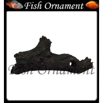 Enfeite De Resina Soma Tronco Duo 51 Fish Ornament