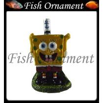 Enfeite Resina Aquario Bob Esponja Mm029 Fish Ornament