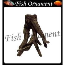 Enfeite De Resina Soma Tronco Raiz 07 Fish Ornament